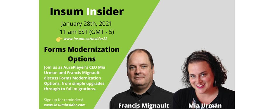 Insum Insider Webinar: Forms Modernization Options
