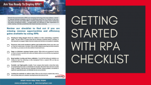 Getting Started with RPA Checklist
